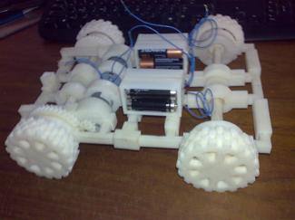 3-D Printed car prototype for Matt Picard Idea lab